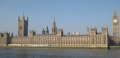 Houses of Parliament in the Spring