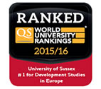 QS World University Rankings, University of Sussex no.1 in Europe for development studies.