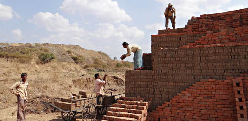 Brick making in India