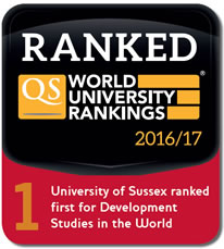 University of Sussex including IDS ranked number one in development studies