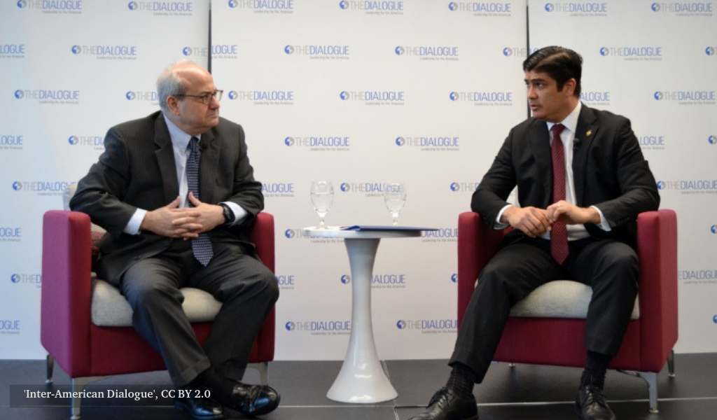 Carlos Alvarado Quesada at the Inter-America Dialogue.