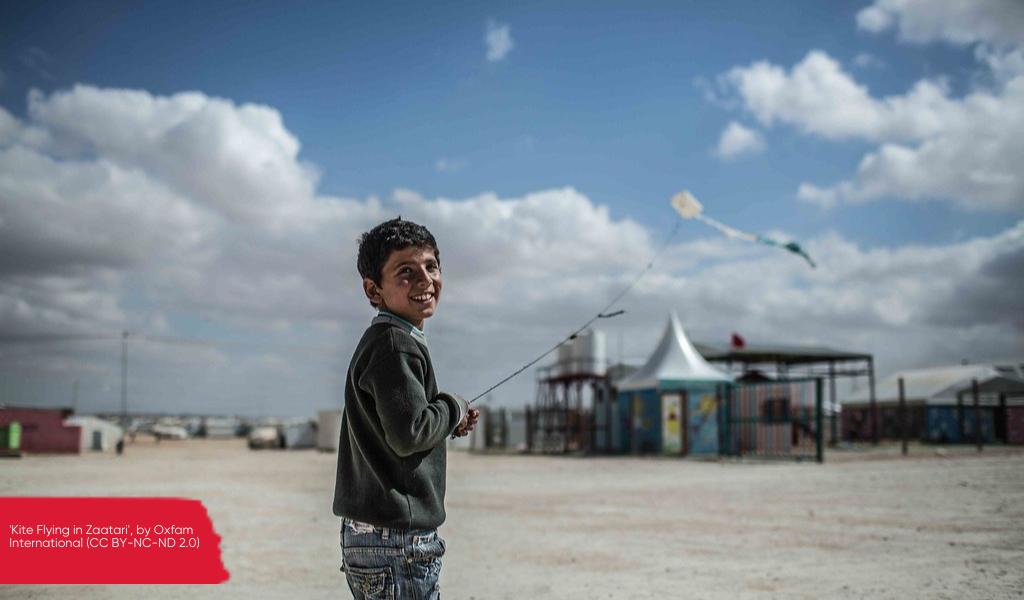 'Kite Flying in Zaatari', by Oxfam International (CC BY-NC-ND 2.0)